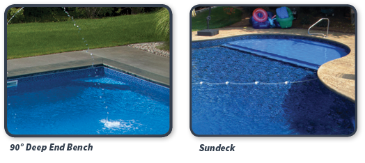 We offer many options for adding Lounging Areas During Your Pool Remodel