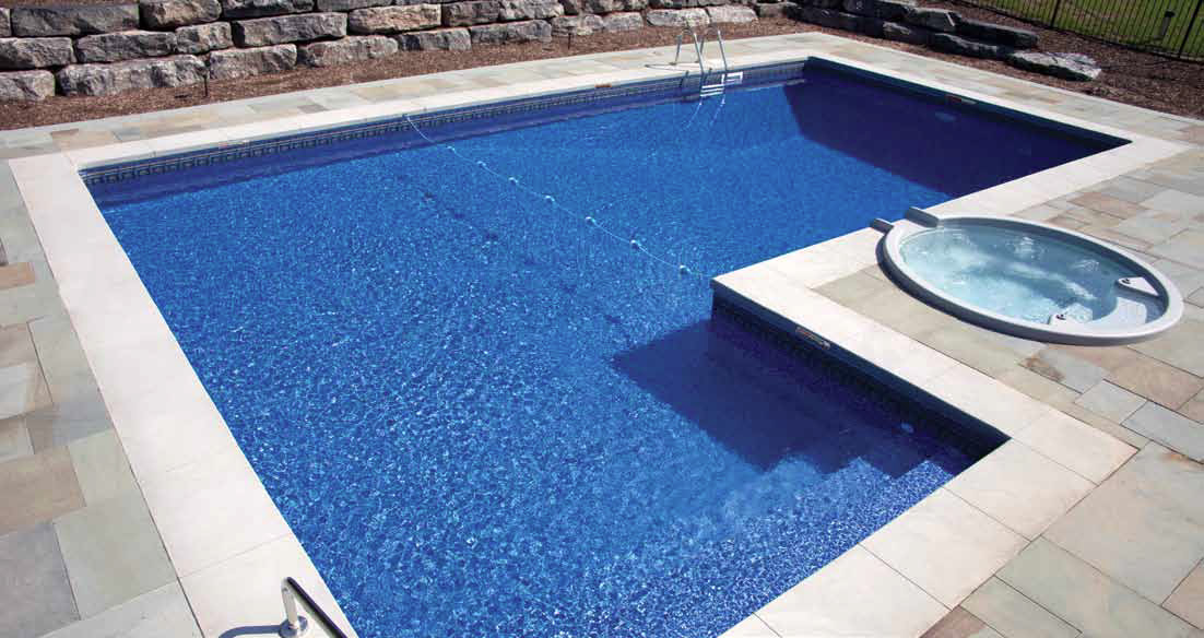 90 degree L Rectangle Pool - Generation Pools