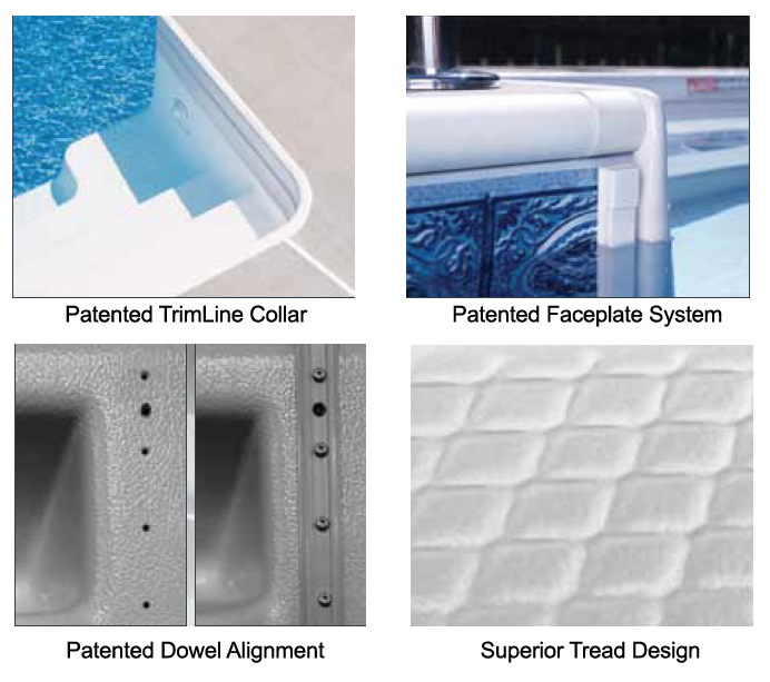 Four Patented Saratoga Step Features Make Them The Best Pool Step On The Market
